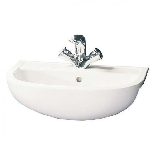 RAK Compact 450mm Semi Recessed Basin With 2 Tap Holes